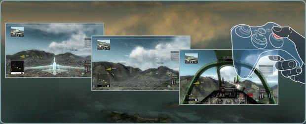 《鹰击长空》PC X360手柄操作图解+游戏介面解释