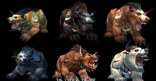 魔兽世界:德鲁伊动物形态模型变更