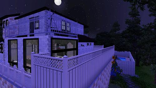 《模拟人生3》mod房建 现代别墅预览图 下载