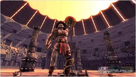 在古罗马战斗《角斗士