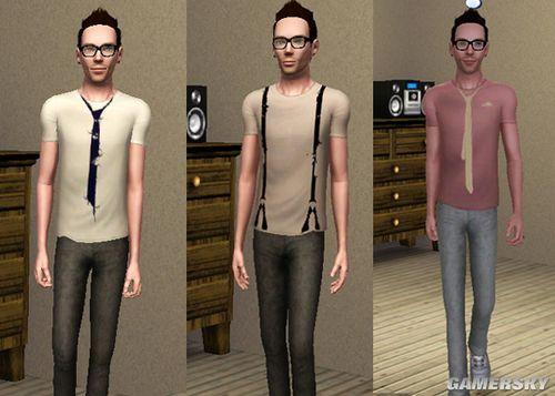 《模拟人生3》mod情趣男性服饰三件酒店衣服类杭州图片