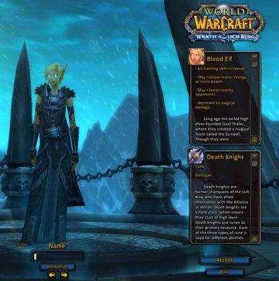 魔兽世界3.3ptr:新模型新角色创建界面