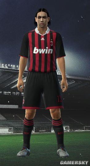 《实况足球2010》米兰黑色短裤球衣下载