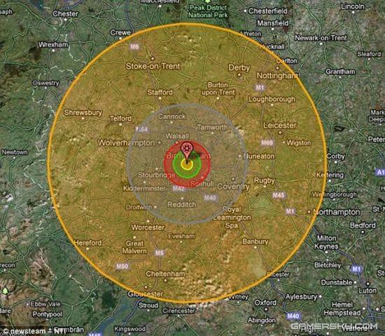 最大氢弹图片_核战恐怖程度:1亿吨级氢弹落在英国的后果 _ 游民星空 GamerSky.com
