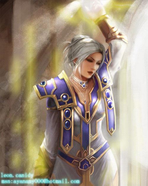 《魔兽世界》玩家精彩同人手绘画作图赏 _ 游民星空 .